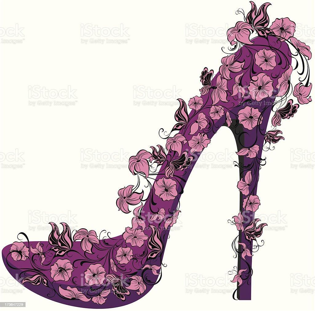 Alta Zapatos Con Decoradas De Yedeh9ibw2 Tacón Ilustración Y Flores E2WIDH9eY