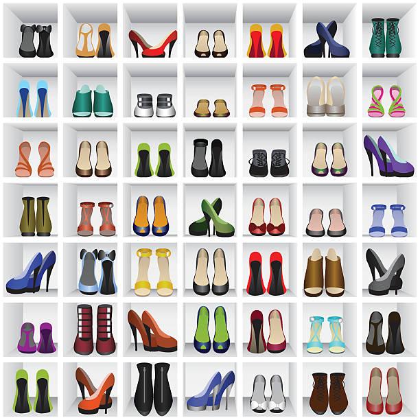 靴を棚 - 靴のファッション点のイラスト素材/クリップアート素材/マンガ素材/アイコン素材