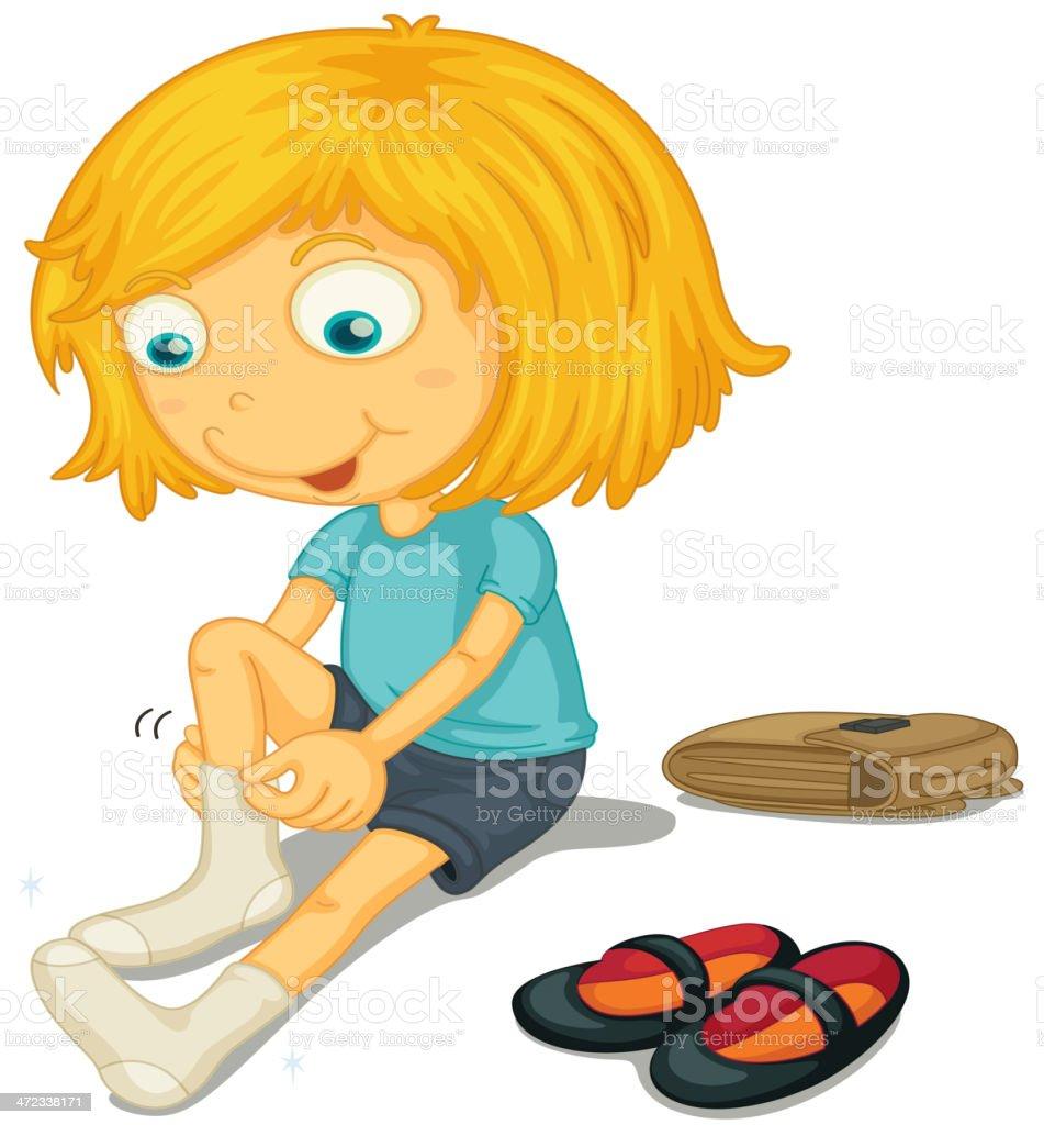 Shoes on vector art illustration