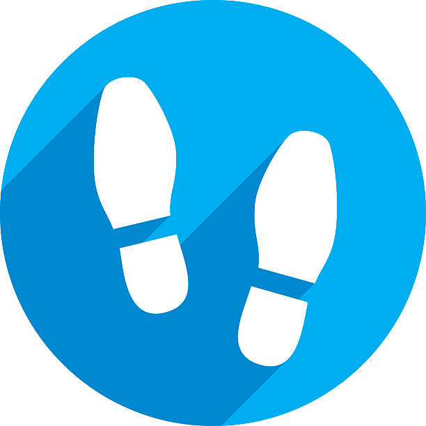 shoes print icon silhouette - eleganter schuh stock-grafiken, -clipart, -cartoons und -symbole