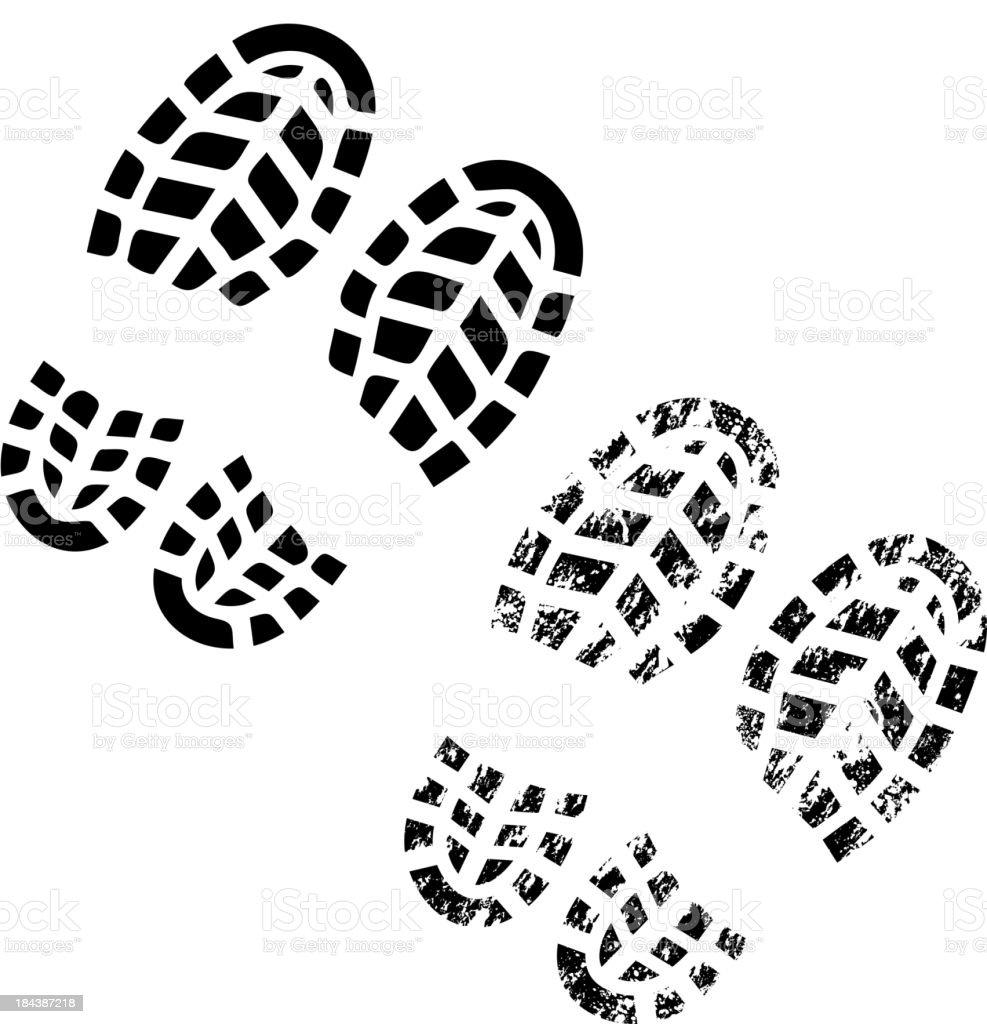 Shoes print vector art illustration