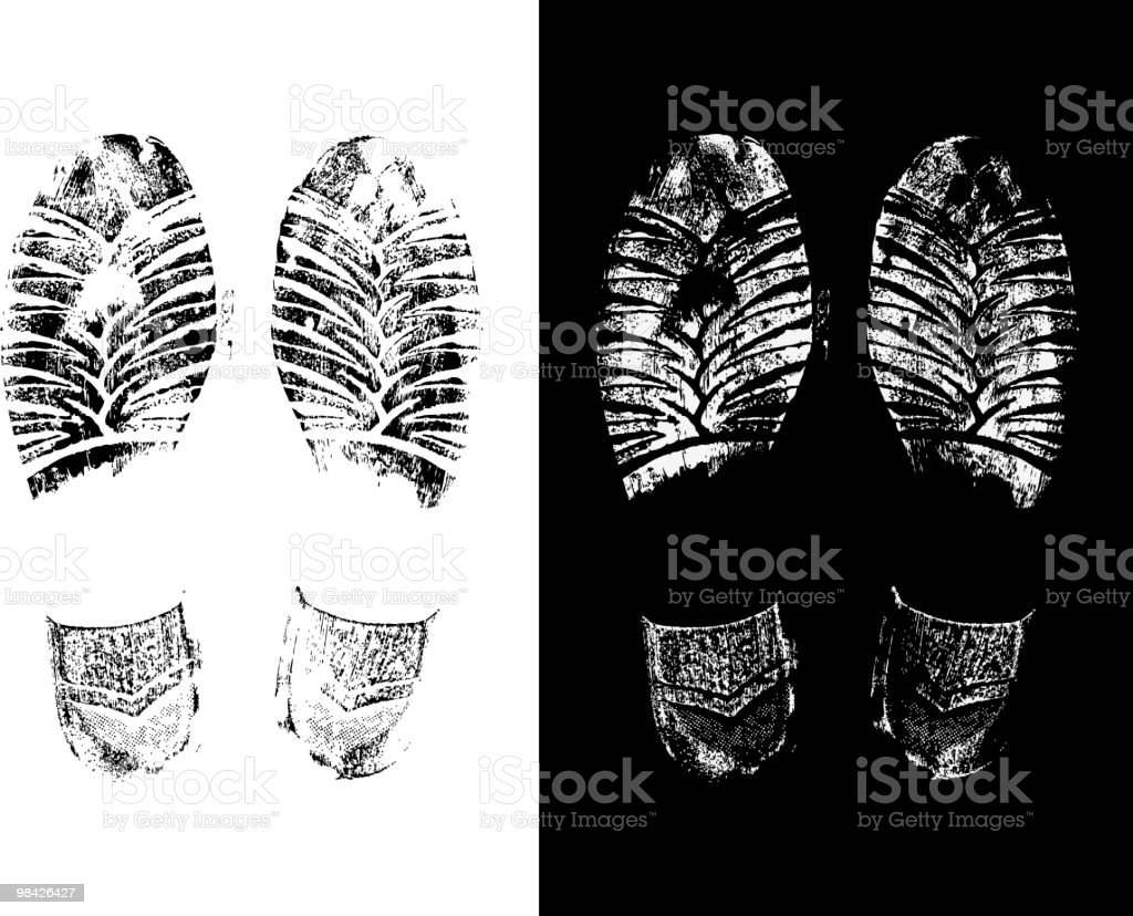 shoes print royalty-free shoes print stock vector art & more images of black color