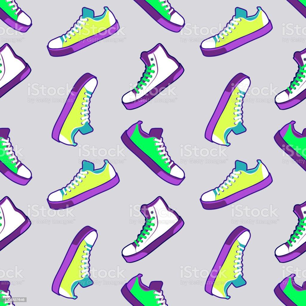 靴シームレスパターンファブリックテキスタイル夏のスポーツシューズ壁紙の背景ベクトルのイラスト アーカイブ画像のベクターアート素材や画像を多数ご用意 Istock