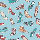 Shoes - seamless pattern