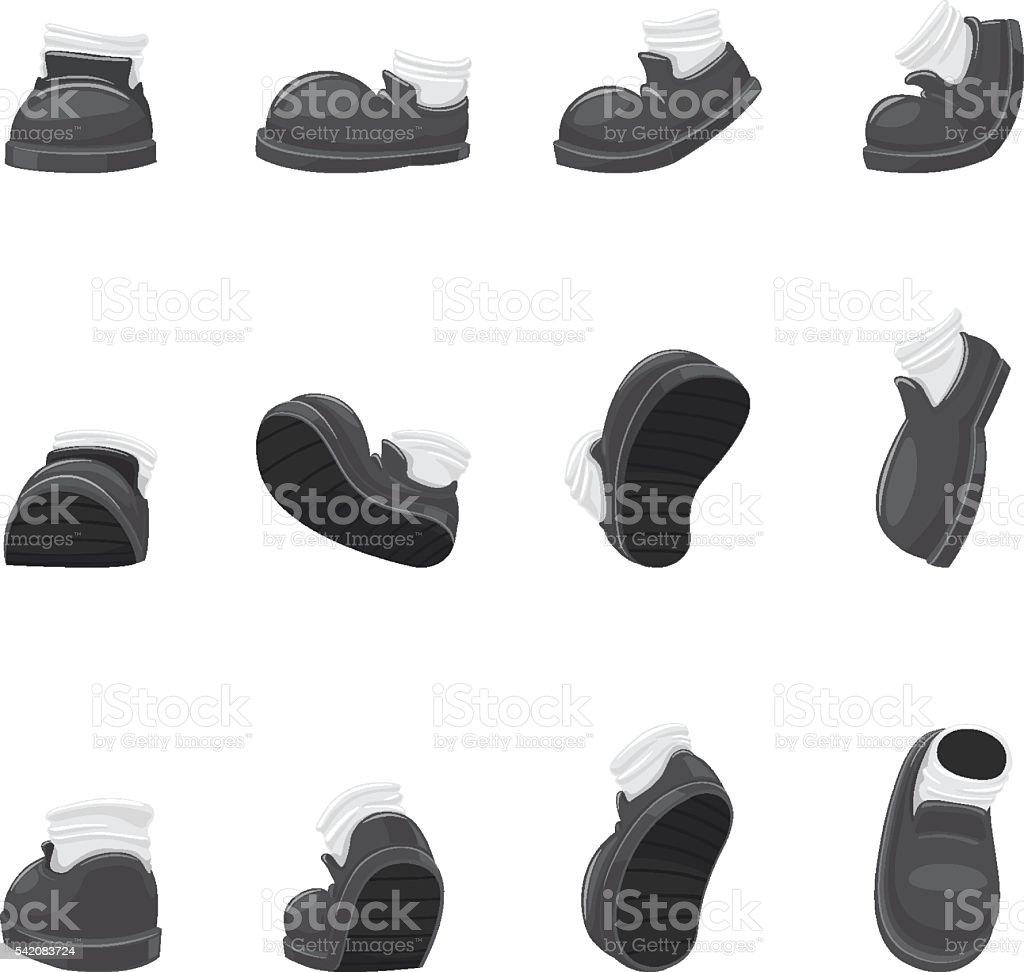 Shoes set vector art illustration