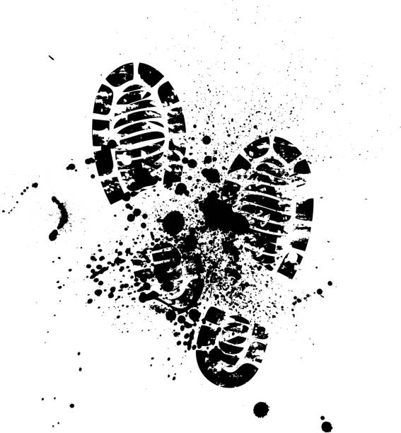 shoes silhouette background - boot stock illustrations