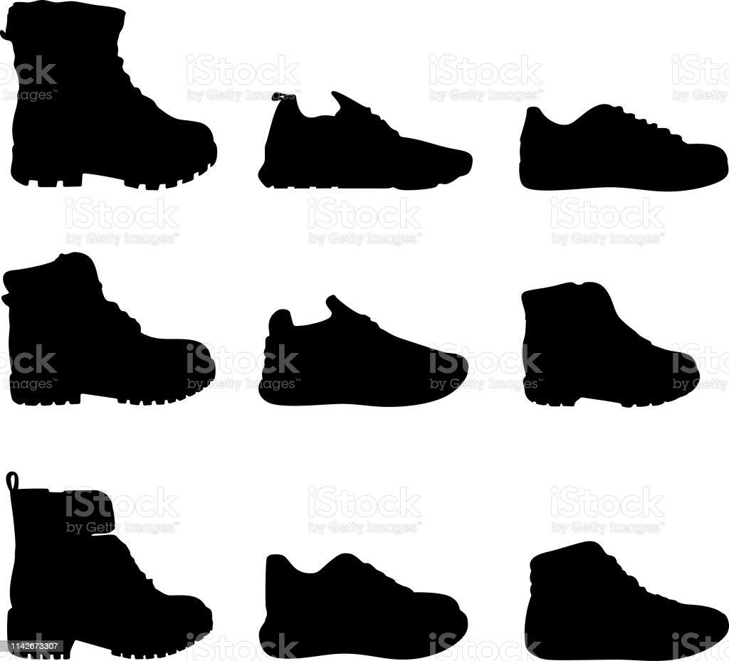 Vektor Schuhe Bilder Mehr Von Silhouette Stock Und Art 6g7Yyfvb