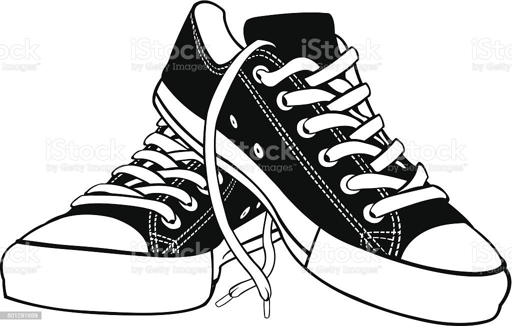 Shoes Stock Vector Art & More Images of Black Color ...