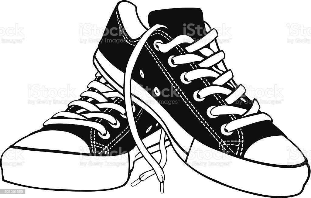 shoes vector art illustration