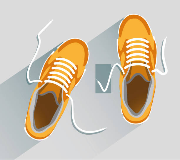 Shoes Shoes. Shoes in flat style. Shoes top view. Fashion shoes. Fashion shoes orange. Vector illustration Eps10 file shoe stock illustrations