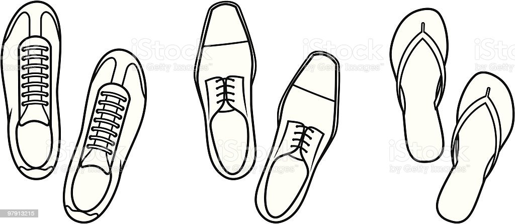 Shoes - Vector Illustration royalty-free shoes vector illustration stock vector art & more images of canvas shoe