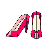 shoes women origami