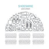 Shoeshine vector icons