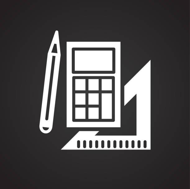 Shool liefert Symbol auf schwarzem Hintergrund für Grafik und Webdesign, modernen einfachen Vektor-Zeichen. Internet-Konzept. Trendige Symbol für Website-Design-Web-Taste oder mobile app. – Vektorgrafik