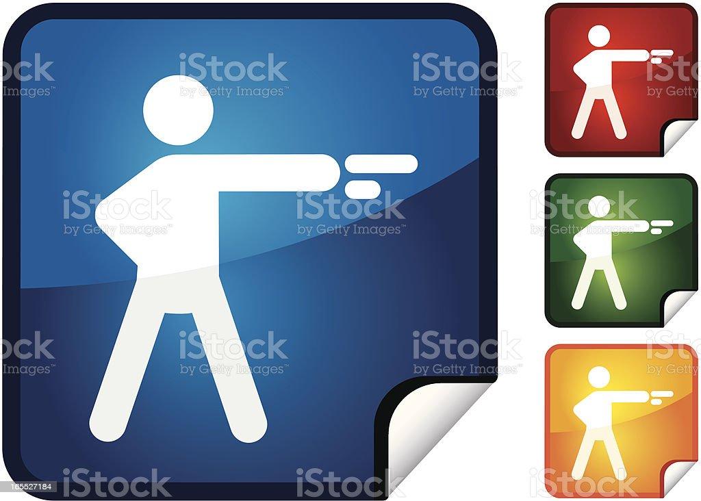 Shooter   Sticker Collection vector art illustration
