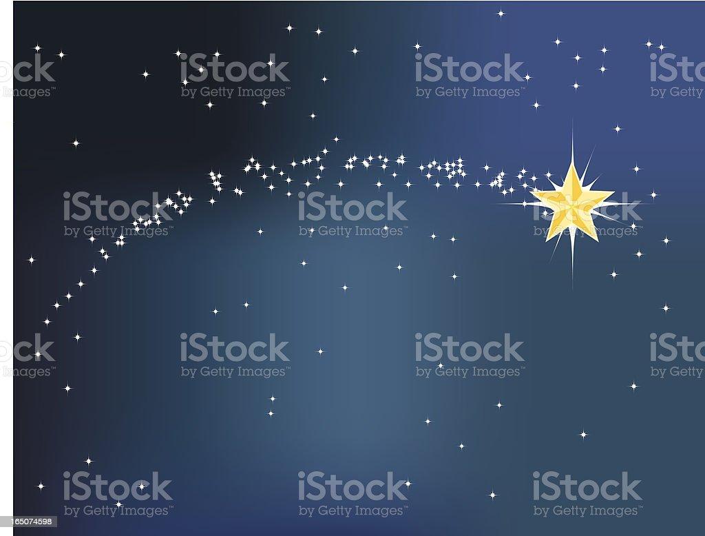 Shooting Star royalty-free stock vector art