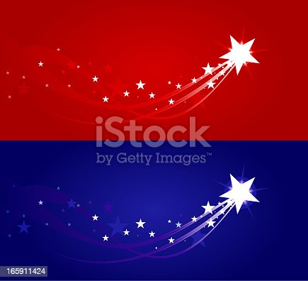 a simple shooting star in two color variations. Hi-res Jpeg, Low-res Jpeg, AI CS3 and AI EPS v8 files included in the package.