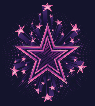 3D Shooting Stars Background