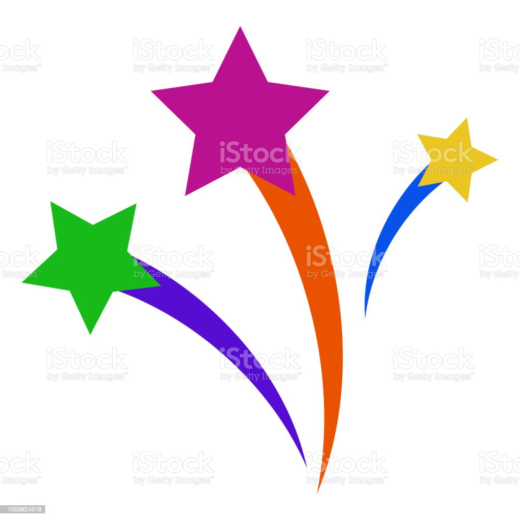 Shooting Stars vector art illustration