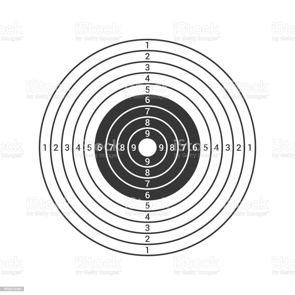 Shooting Target Icon Isolated on White Background. Vector shooting target icon isolated on white background vector - stockowe grafiki wektorowe i więcej obrazów biznes royalty-free