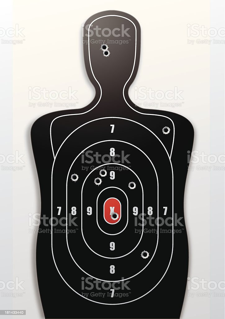 Shooting Target royalty-free shooting target stock vector art & more images of accuracy