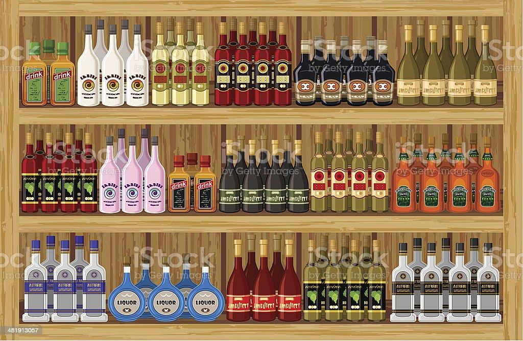 Alkoholische Getränke Kaufen Stock Vektor Art und mehr Bilder von ...