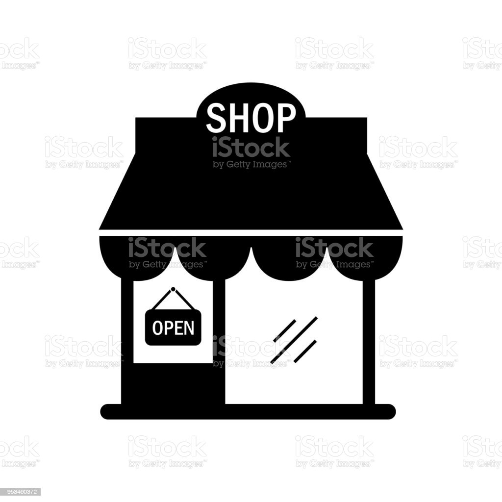 Shop building icon illustration isolated vector sign symbol vector art illustration