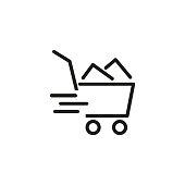 Shop cart line icon