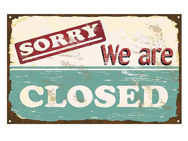 illustrazioni stock, clip art, cartoni animati e icone di tendenza di smalto di negozio chiuso - cartello chiuso