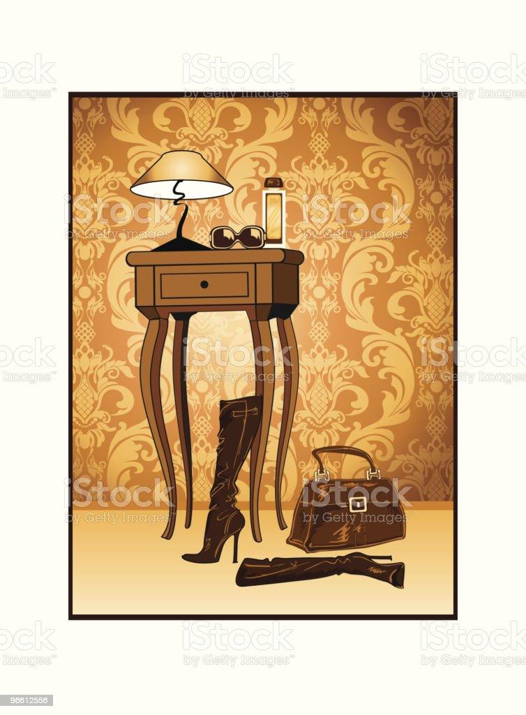 """""""Dekoration"""" girl's Room#2 - Lizenzfrei Dekoration Vektorgrafik"""