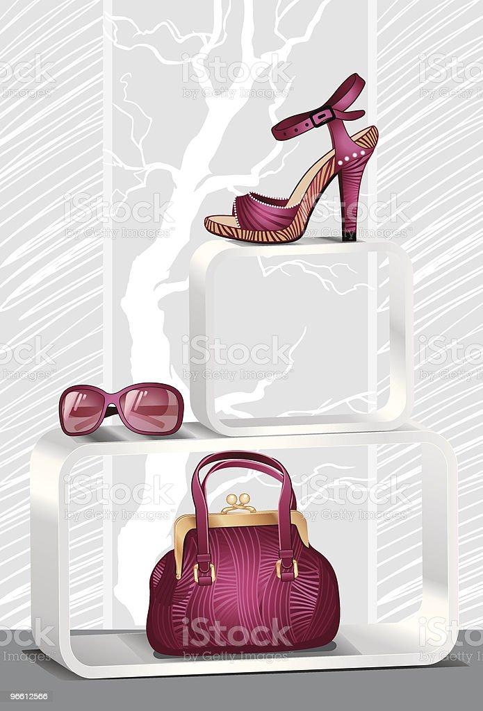 "shop decoration ""Glamour"" - Royaltyfri Affär vektorgrafik"