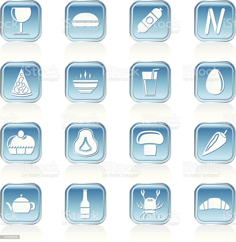 shop, food and drink icons royalty-free stock vector art