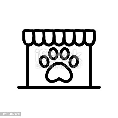 Shop for pet icon vector. Isolated contour symbol illustration
