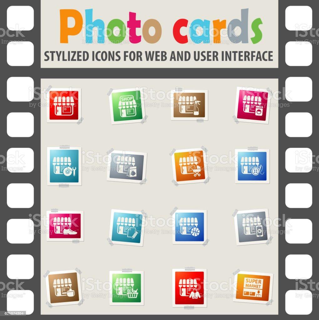 Ensemble d'icônes de la boutique ensemble dicônes de la boutique – cliparts vectoriels et plus d'images de icône libre de droits