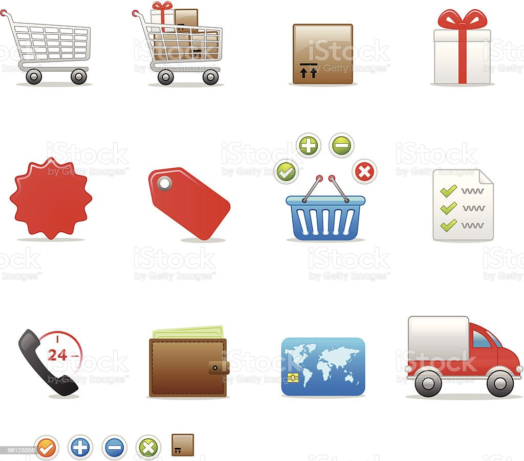 shop icon set royalty-free shop icon set stock vector art & more images of basket