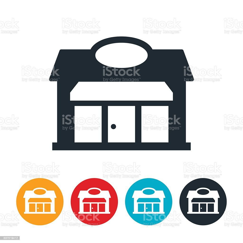 Shop Icon vector art illustration