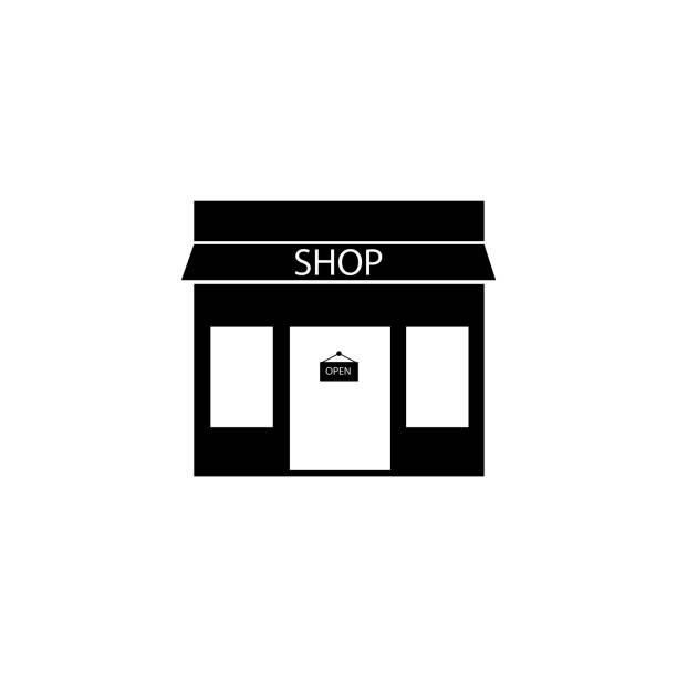 ilustrações de stock, clip art, desenhos animados e ícones de shop icon - store