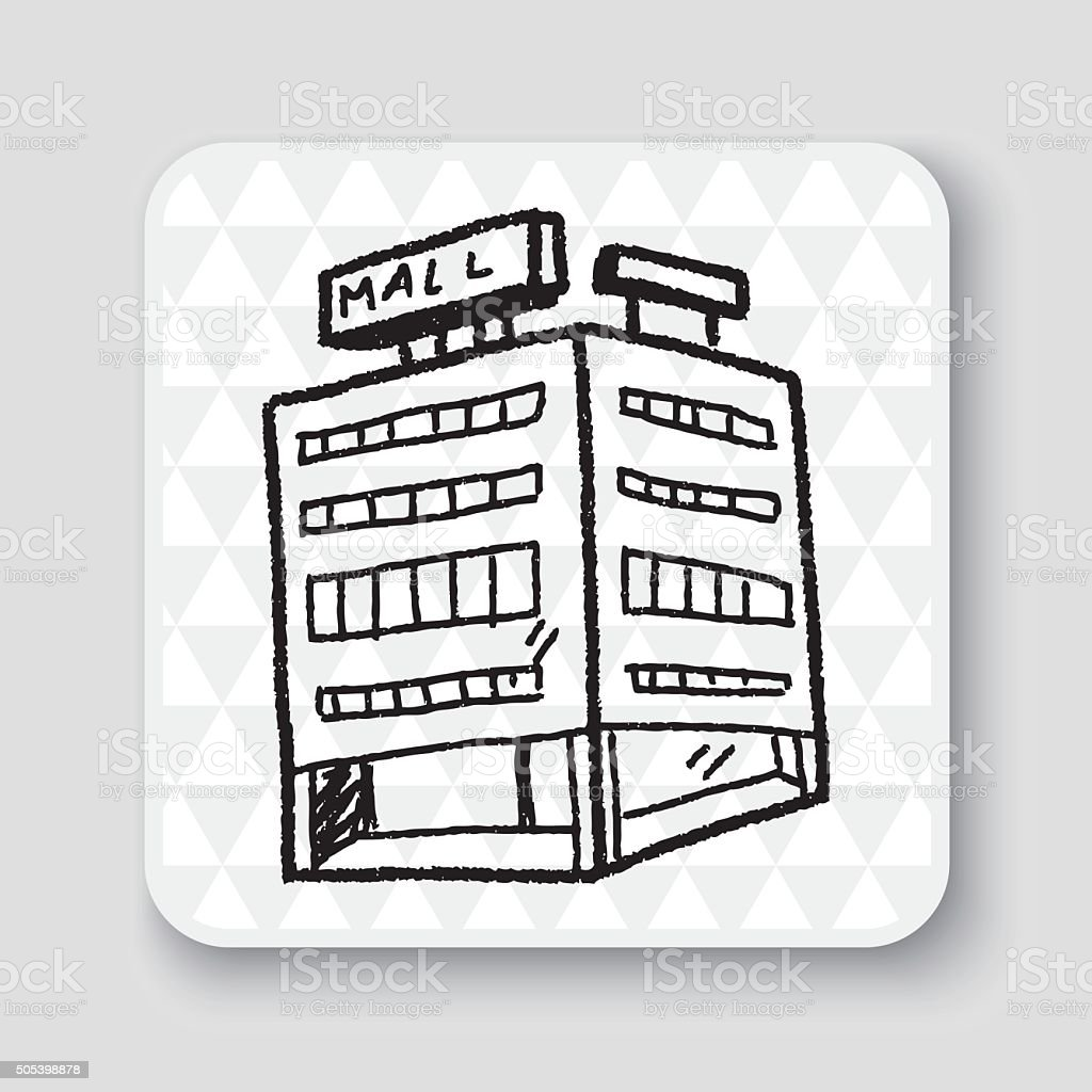 Shop Mall Doodle Drawing Royalty Free Stock Vector Art Amp