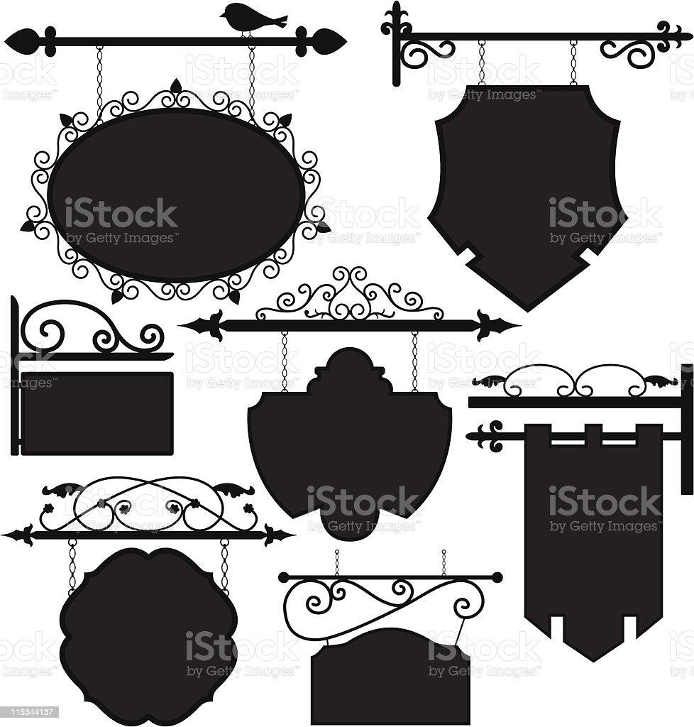Shop Signage Frame Route vector art illustration