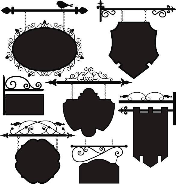 kupuj oznakowanie trasy ramki - wisieć stock illustrations