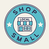 istock Shop Small Local Business Support Badge 1290583974