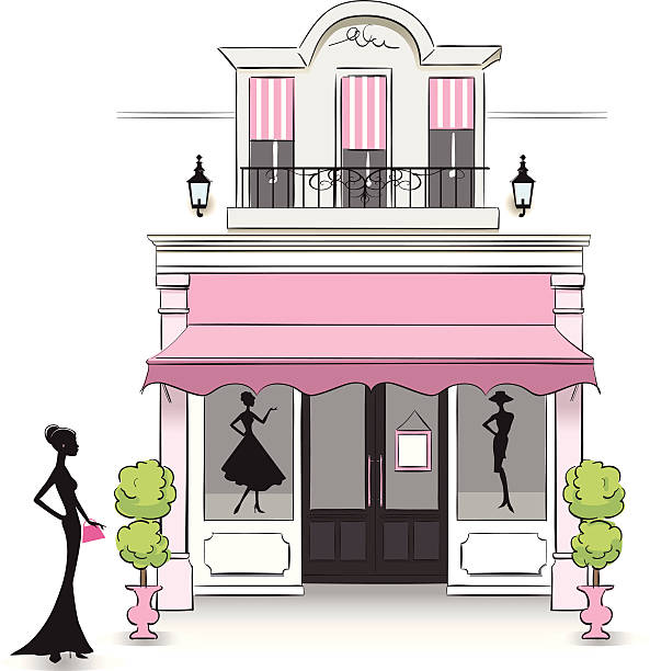 boutique - - modeboutique stock-grafiken, -clipart, -cartoons und -symbole