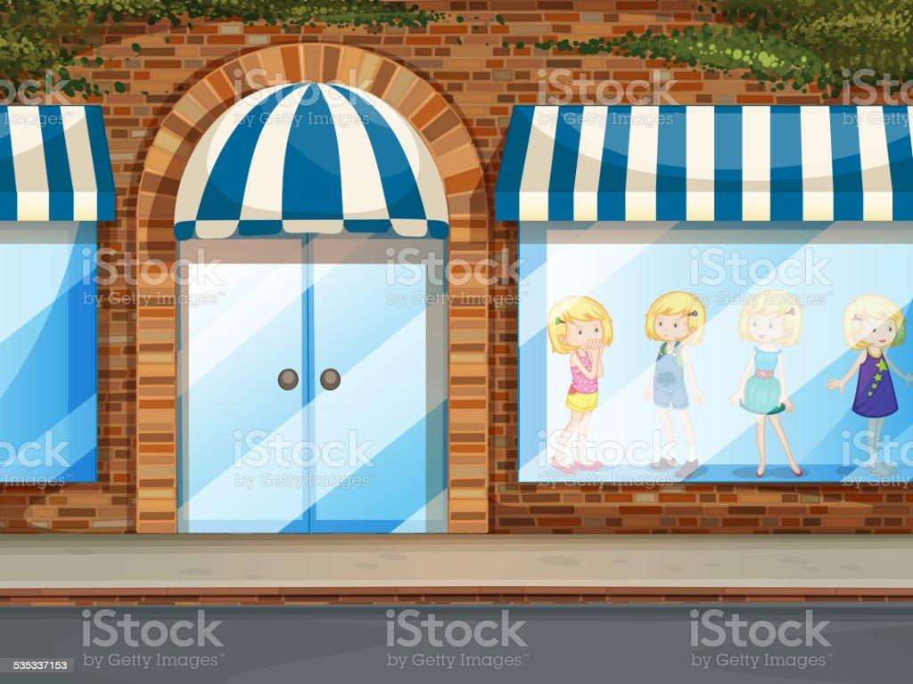 Shop vector art illustration