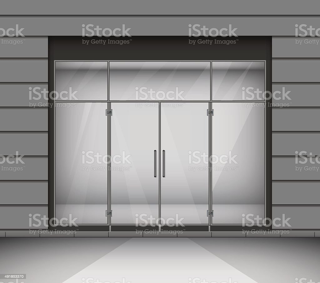 Shop with glass windows and doors front view vector illustration shop with glass windows and doors front view vector illustration royalty free shop planetlyrics Choice Image