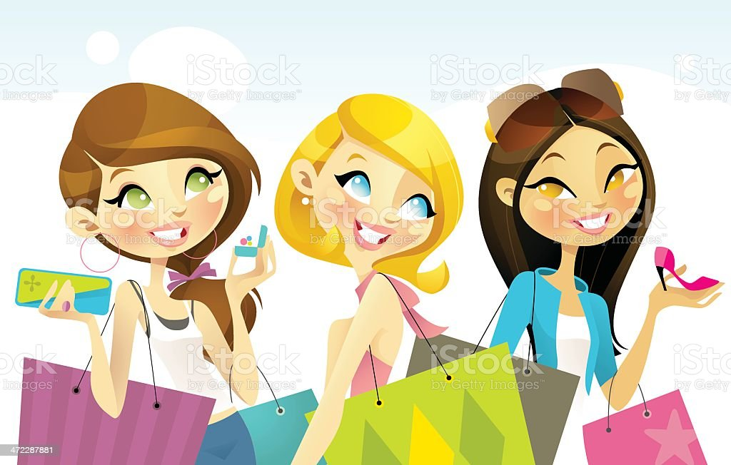 Shopaholics royalty-free shopaholics stock vector art & more images of arts culture and entertainment