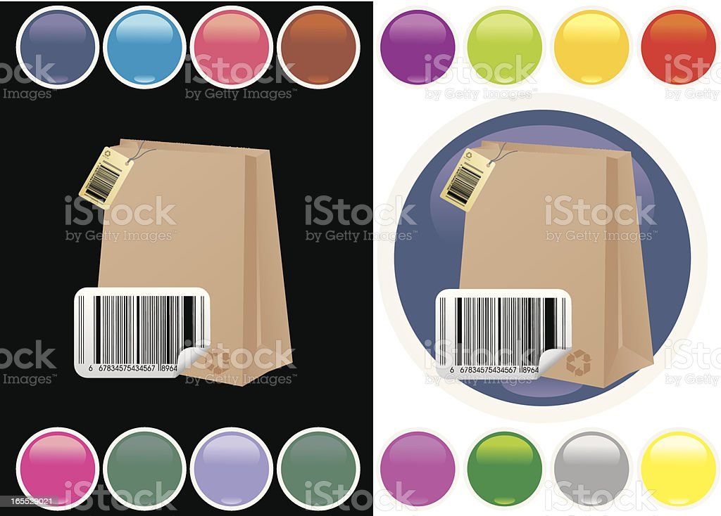 Shoping icon royalty-free stock vector art