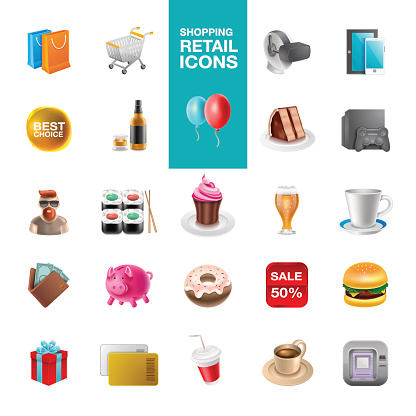 Shoping Retail Icons