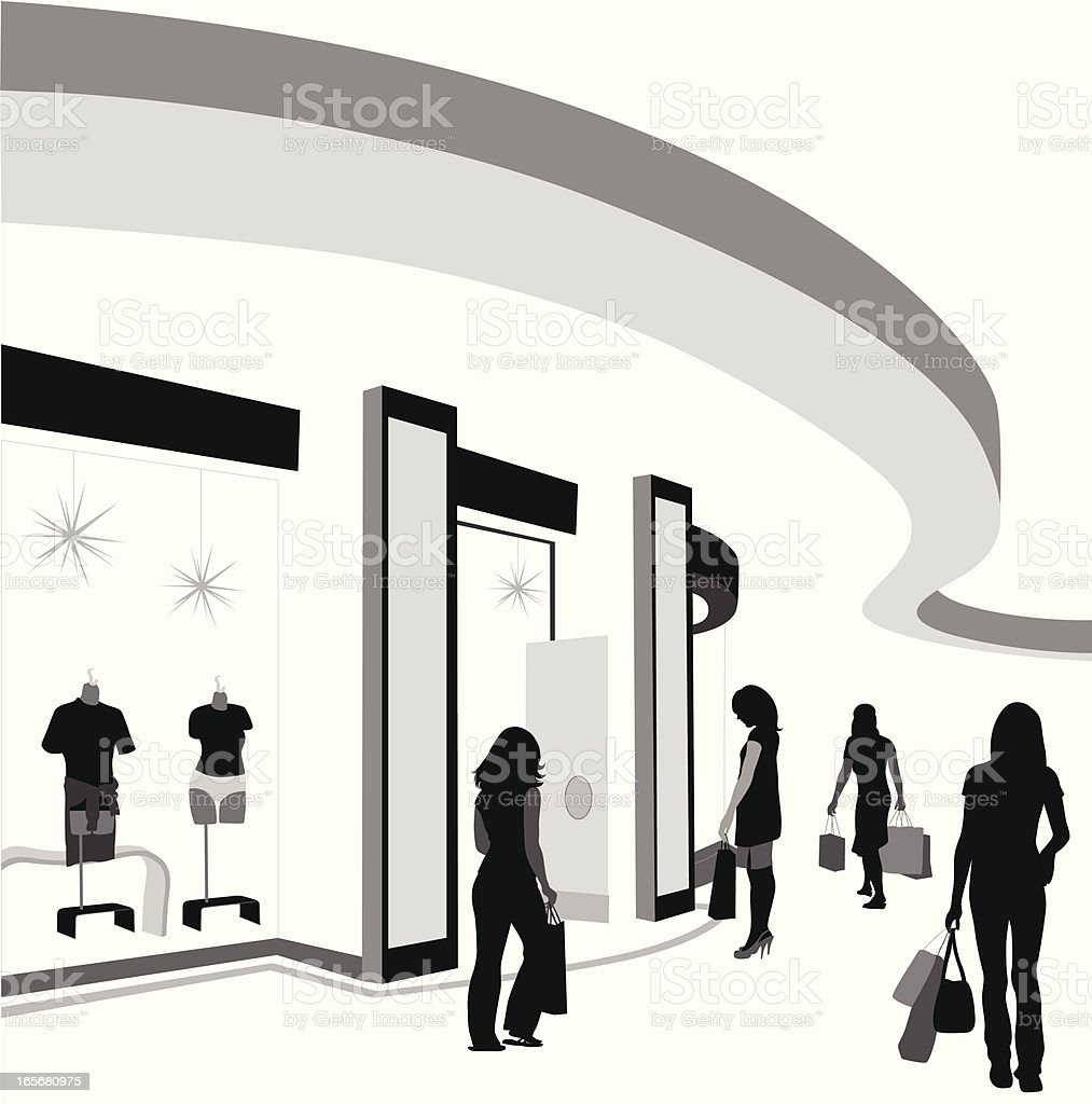 Shop'n Walk Vector Silhouette royalty-free stock vector art