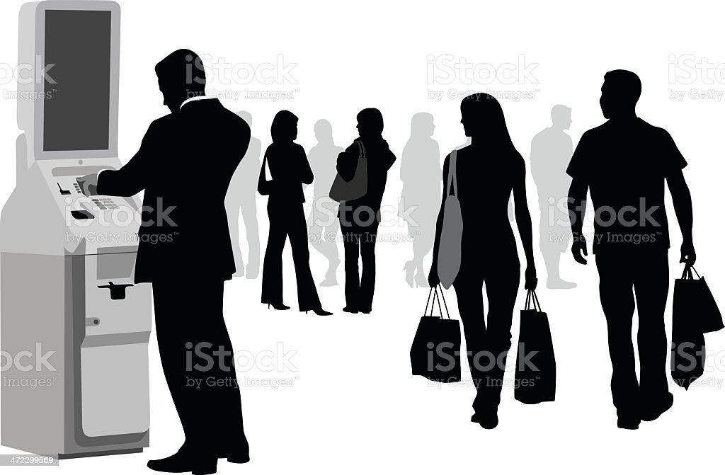 Shopper Crowd royalty-free stock vector art