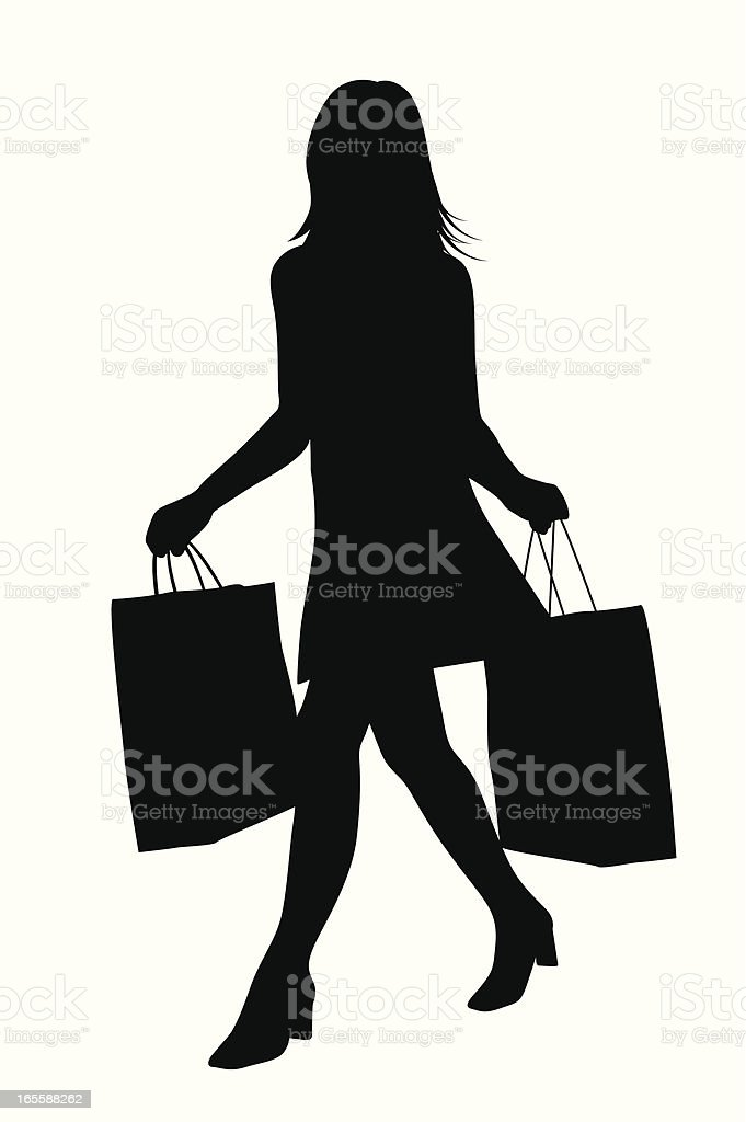 Shoppin Icon Vector Silhouette royalty-free stock vector art